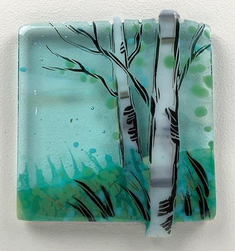 Small Birches Framed Art