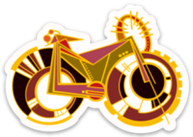 Fat Tire Bike Sticker