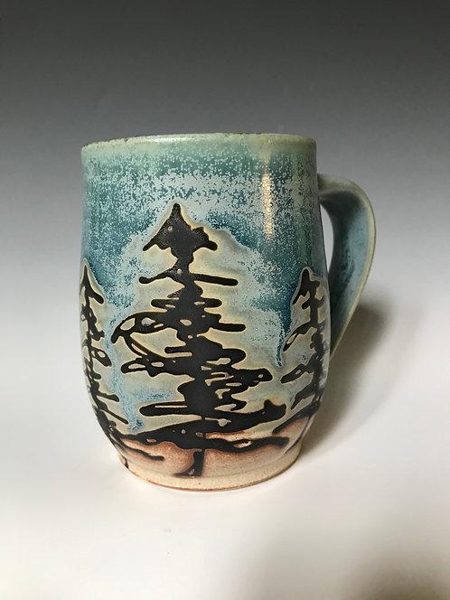 Blue Tree Mug