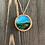 Thumbnail: Grassy Landscape Alcohol Ink Wood Circle Pendant Necklace