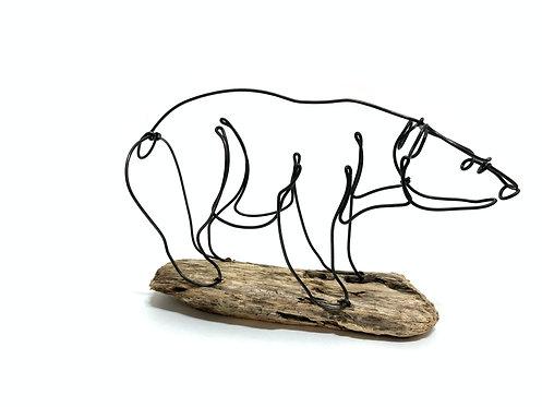 Bear Wire Sculpture