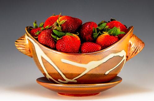 Bronze Shino Berry Bowl/Saucer
