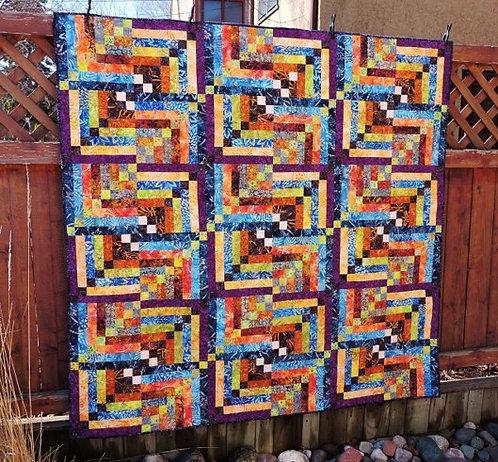 Batik Strip Quilt