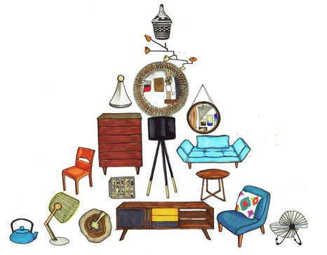 Frank Modern: Spice Up Your Home With Vintage Modern Treasures