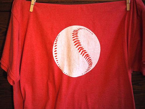 Baseball adult shirt red