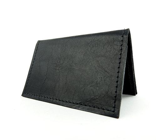 Black Leather Minimalist Wallet