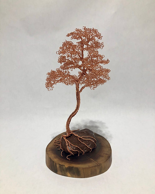 Copper Bonsai on Stone and Walnut