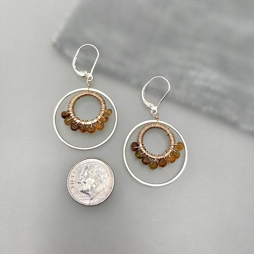 Tourmaline Wreath Earrings
