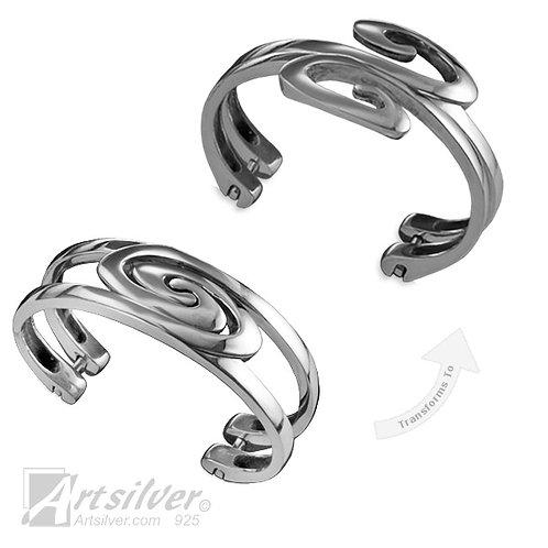 Multi-form Spiral Cuff Bracelet  Style KS085