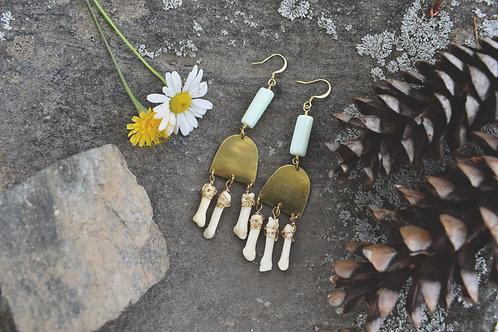 Bellwether Earrings - Coyote Toe, Opal