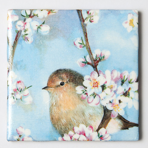 Bird in Cherry Blossoms:  Set of 4