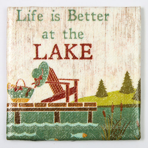 Life is Better at the Lake:  Set of 4