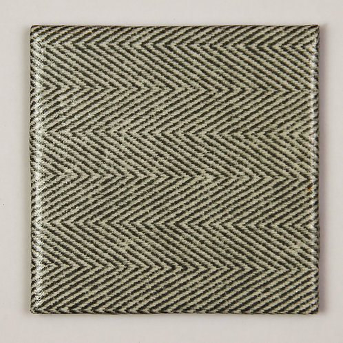 Grey and White Tweed:  Set of 4 Coasters