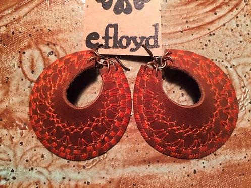 Brown Crescent Stitched Orange