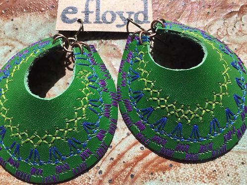 Green Crescent Stitched