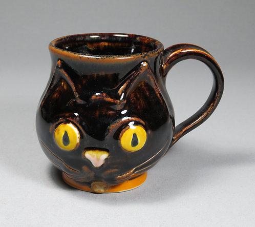 Tenmoku Kitten Mug