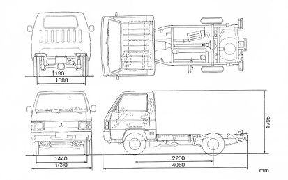 Mitsubishi L300 Fahrgestell Maße