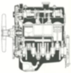 Längsschnitt Mitsubishi Ottomotor 4G32 4G37