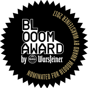 Lauren Valley nominated for a 2017 BLOOOM Award by Warsteiner