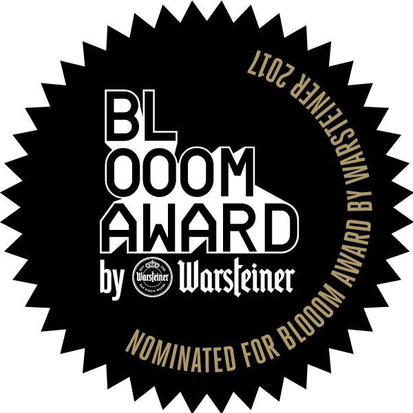 Lauren Valley nominated for a 2017 BLOOOM Award by Warsteiner