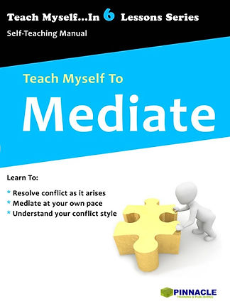 Learn To Mediate, Books on Mediation, Books on conflict resolution, School mediation workbook. Workplace mediation guide.