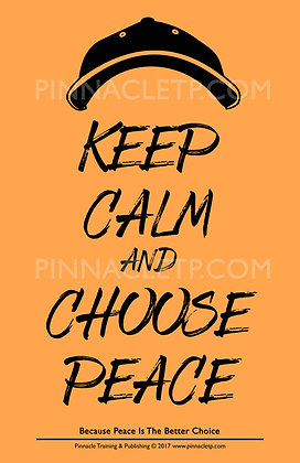 Keep Calm & Choose Peace - Poster in Orange