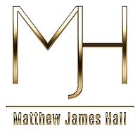 RevisedblkMatt Hall LogocapWhitGoldLOGOB