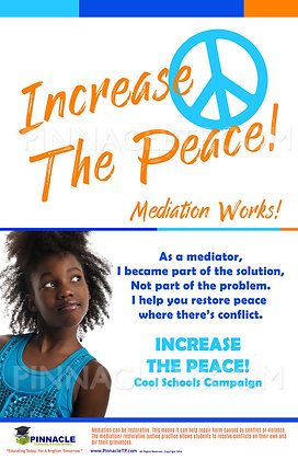 INCREASE THE PEACE COOL SCHOOLS MEDIATION POSTER SET (8)