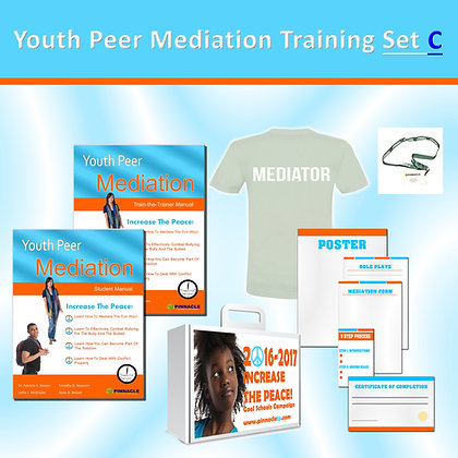 Youth Peer Mediation Training Set (C) 20 Pack with T-Shirts and Badges