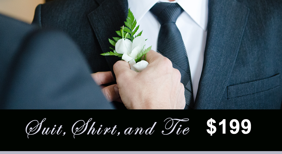 Whalley Grooms suit shirt tie.Whitefw.fw