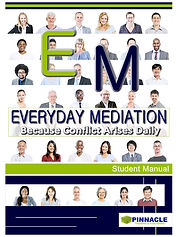 Everyday Mediation Book Student Mediation Manual by Pinnacle Training and Publishing