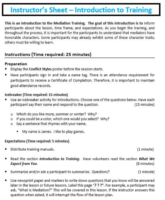 PeeMediation Workbook | School Mediation | Mediation