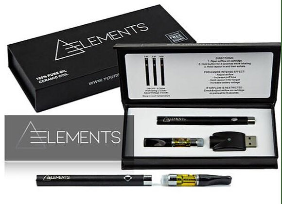 Elements THC Distillate Pen Kit-Assorted Flavours