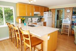 kitchen w granite counters, dishwasher fully stock (1)