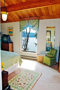 Seaside bedroom new queen bed sea views