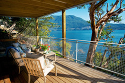 private covered waterfront decks with lounge seat (3)