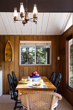 Evergreen-dining for 6 with water views
