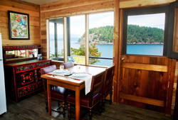 Kitchenette with water views