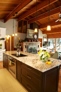 New kitchen open concept with sea views