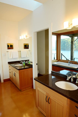 double vanity in the master ensuite