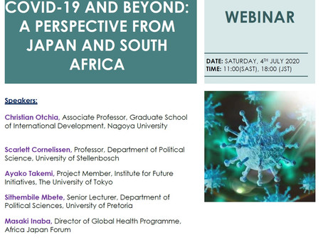 Covid-19 and Beyond: A Webinar Connecting Japan and South Africa