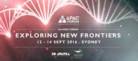 APAC 2016 - EXPLORE NEW FRONTIERS 12-14 SEPTEMBER, SYDNEY, AUSTRALIA