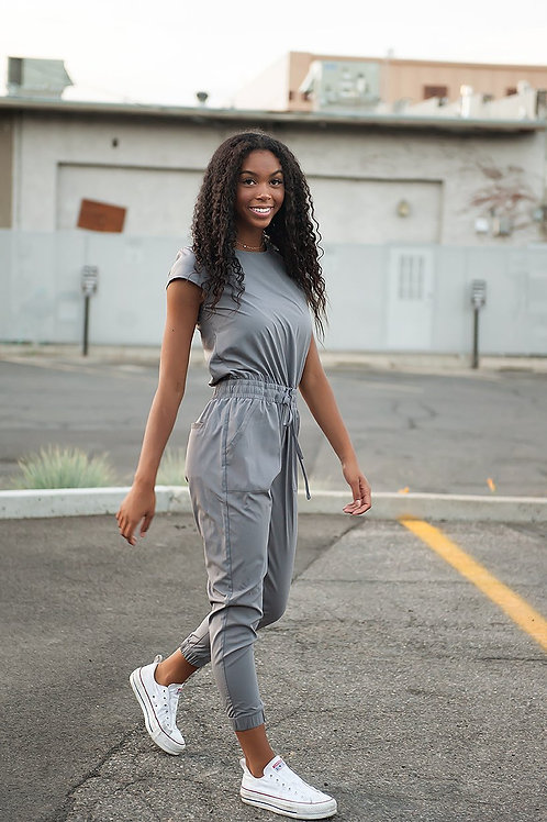 Unity Jumpsuit in Cement