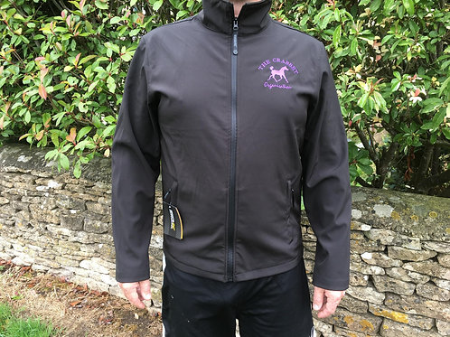 Showerproof soft shell jacket