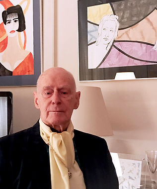 Douglas MacDiarmid on his 94th birthday, Paris, November 2016. Photo courtesy of the artist.