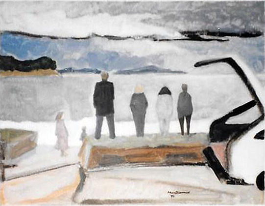 Douglas MacDiarmid, Wet Sunday New Zealand, 1996. Private Collection, New Zealand