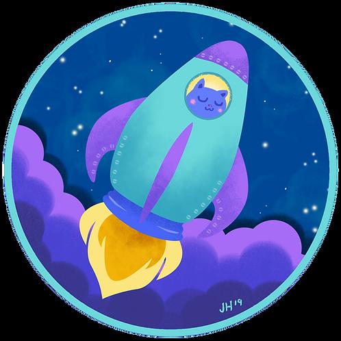 Rocket Kitty - Sticker