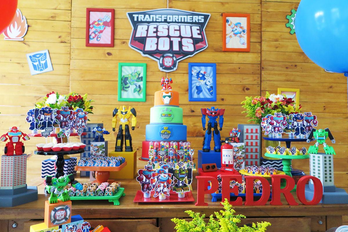 Decoração Festa Transformers Rescue Bots