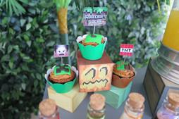 decoração festa minecraft (2).JPG