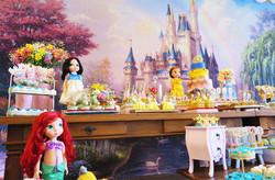decoração-princesas-ariel-branca-de-neve